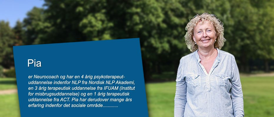 Neurocoach og psykoterapeut Pia